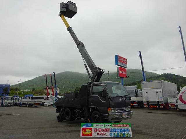 いすゞ 高所作業車 作業高9.9m 自走式 スカイムーバー