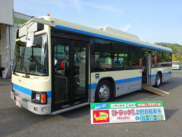 日野 ブルーリボンII 大型バス 車いす移動車 32人乗り