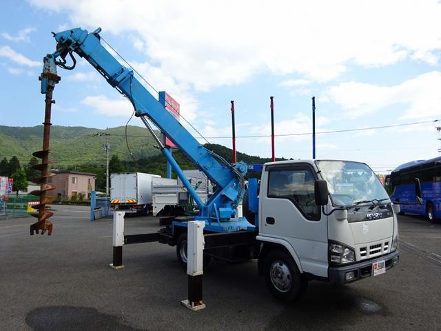 いすゞ 穴掘建柱車 タダノ DT620 施工管理装置付