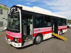 ヒノレインボー路線バス 25人乗り 自家用送迎バス 車イス昇降用スロープ
