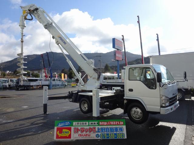 いすゞ 穴掘建柱車 アイチコーポレーション D50A