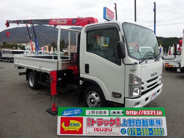 いすゞ 4段 ユニッククレーン ワイド ロング 3.5t積み