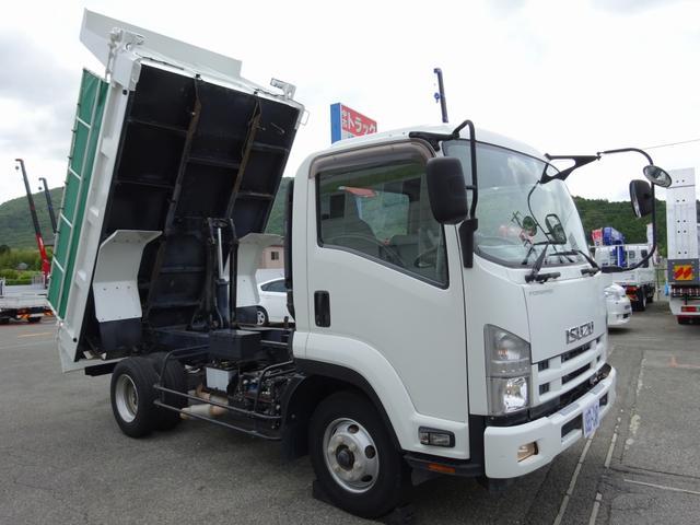 いすゞ 4トンダンプ 新明和 3.7t積み 標準幅 電動コボレーン