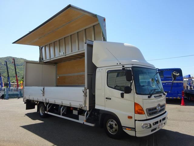 日野 アルミウイング ワイド幅 ベッド付 3t積み 6.2mボディ