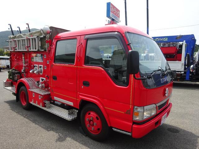 いすゞ 消防車 ポンプ車 吉谷機械製作所 標準幅 ミドル Wキャブ