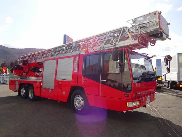 日野 日野 40m級はしご付消防自動車 モリタ製 スーパージャイロラダー
