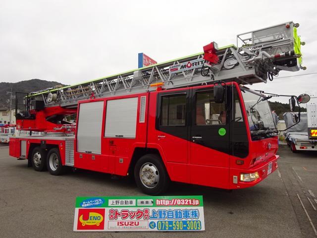 日野 40m級はしご付消防自動車 モリタ スーパージャイロラダー