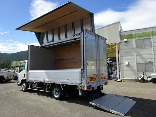 いすゞ エルフトラック  アルミウイング 床下格納式パワーゲート 3150kg積載 ワイド ロング 4.4mボディ