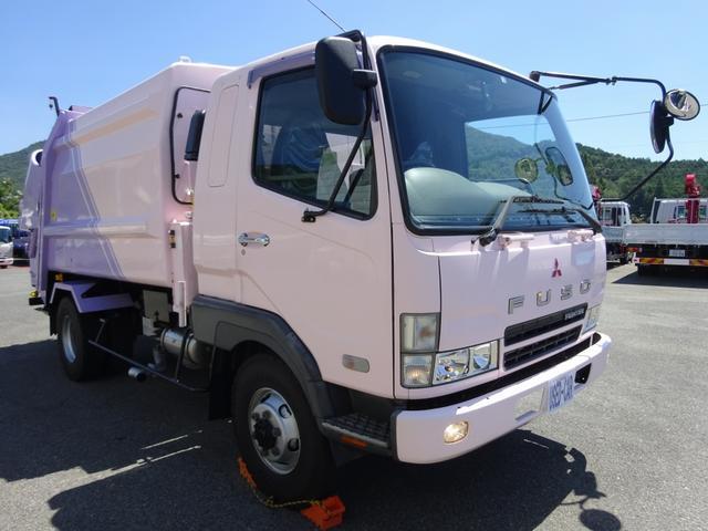 三菱ふそう  4WD プレス式パッカー 塵芥車 8.0m3 フジマイティー 連続積込 汚水タンク 1.6t積載