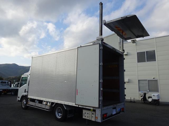 いすゞ エルフトラック  バーチカルゲート アルミバン ワイド ロング 2.1t積み スムーサーEX