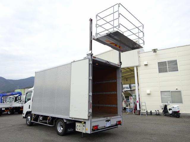 いすゞ エルフトラック  バーチカルゲート 垂直ゲート アルミバン 6速MT ワイド幅 ロング 2.3t積み