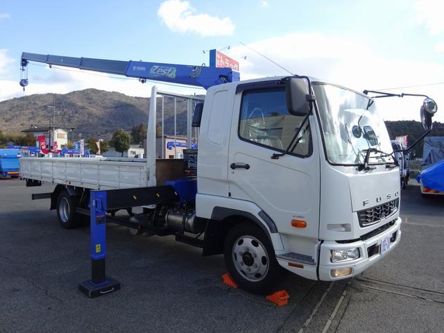 三菱ふそう  4段クレーン付 270馬力 タダノ ZE364HR ワイド ベッド付 2250kg積
