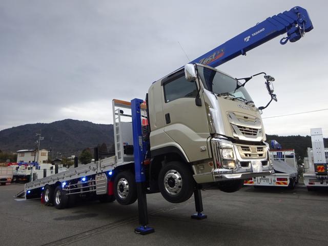 いすゞ ギガ  アルミウイング 日本トレクス ボディ長9.6m 13.9t積み 4軸低床 リヤエアサス ベッド付 380馬力