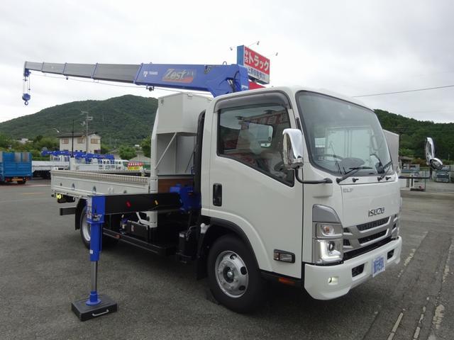 エルフトラック(いすゞ) 5段クレーン付 新型エルフ タダノ ZX295HRSA 警報仕様 ワイド ロング 中古車画像