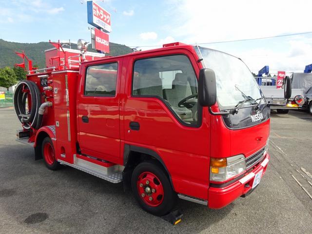 水槽付消防車 消防ポンプ自動車 可搬式ポンプ(トーハツ製) B-2級 900L水タンク
