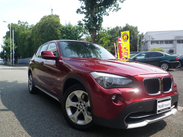 BMW X1 sDrive 18i /黒革&シートヒーター/禁煙車/純正IドライブHDDナビ