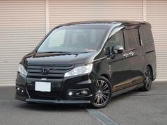 ステップワゴンスパーダZ HDDナビED 地デジ付純正9型ナビ 車高調 17アルミ