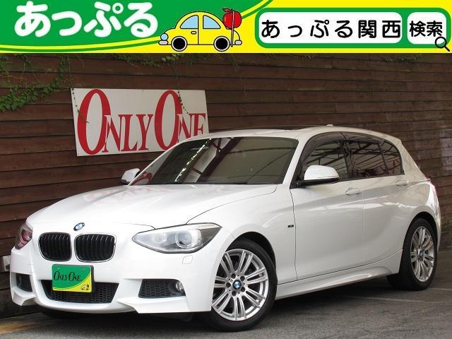 BMW 1シリーズ 116i Mスポーツ Mスポーツ専用エクステリア 専用17AW オプションサンルーフ アルカンタラSportシート パーキングアシスト リアビューカメラ i-Driveナビ フルセグ地デジ アイドリングストップ
