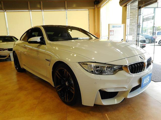 BMW M4 M4クーペ DCTドライブロジック 右H 黒革 カーボンルーフ ドライビングアシスト 純ナビTV Bモニタ PDC コンフォートアクセス 純OP19AW LEDヘッドライト ETC