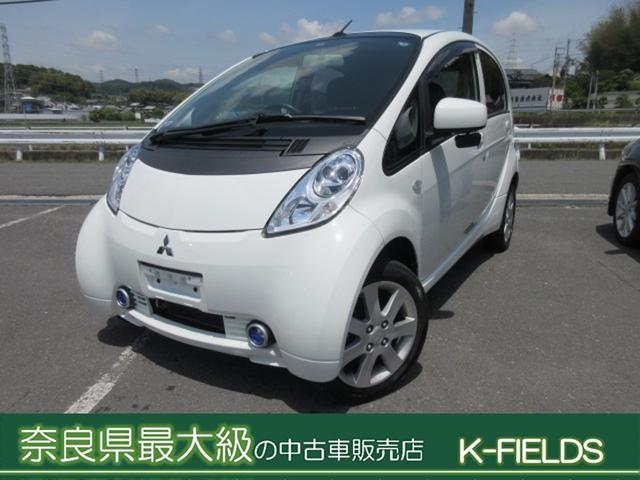 三菱 G フル充電走行可能距離121キロ 回生ブレーキ シートヒーター 後期モデル 修復あり(リアバンパー 軽度)