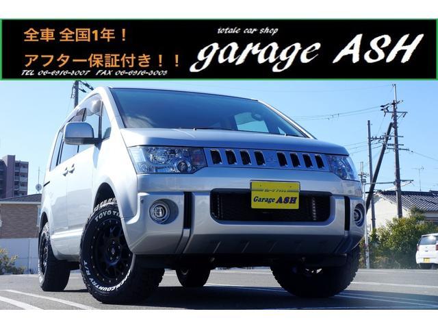 三菱 デリカD:5 M 4WD電動スライドドアHDDナビ地デジ新16AW新ホワイトレタータイヤ