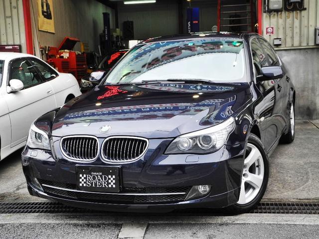 BMW 525iハイラインパッケージ 1オーナー屋内保管ディーラー整備記録簿黒本革インテリアHDDマルチナビHID禁煙車天張り張替済
