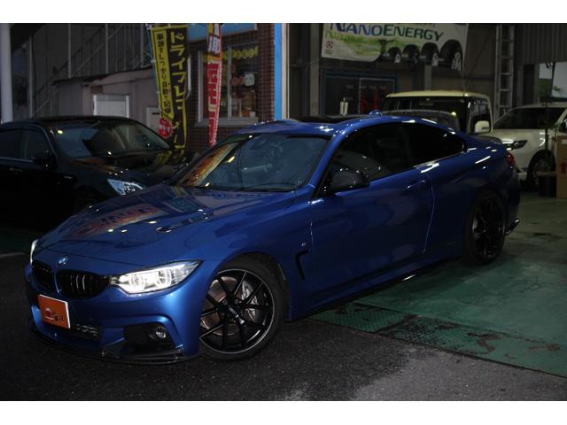 BMW 4シリーズ 435iクーペ Mスポーツ サンルーフ ETC ナビ(純正) バックカメラ トラクションコントロール スマートキー クルコン ターボ アルミ ローダウン エアロ HID 本革シート パワーシート シートヒーター 記録簿 禁煙車