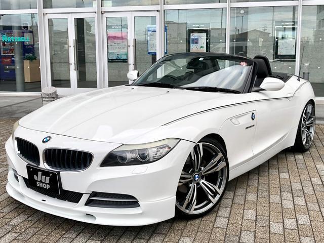 BMW sDrive23i ハイラインパッケージ MARVINエアロ&ダウンサス&リヤスポイラー 20インチAW 黒革シート シートヒーター HDDナビ TV ETC 記録簿有 修復無