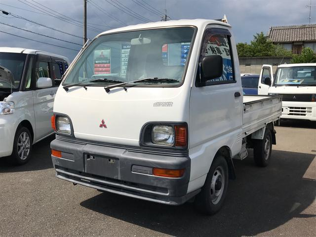 三菱 4WD AC MT 軽トラック 2名乗り ホワイト