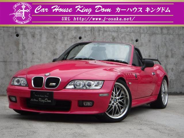 BMW 2.2カスタムピンク塗装車高調社外18AWアンプスピーカー