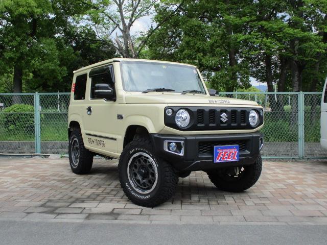 スズキ ジムニー XL 4WD 背面タイヤ リアラダー リフトアップ 16インチアルミ 8インチナビ 1オーナー