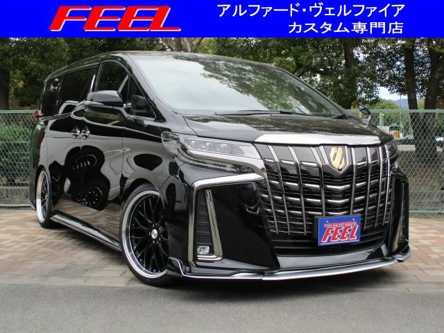 トヨタ 2.5S タイプゴールド サンルーフ 3眼LEDヘッドライト パワーバックドア デジタルインナーミラー 21インチアルミ 車高調 LUSSOフルエアロ