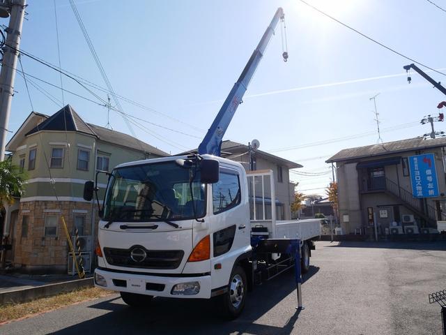 日野 タダノ4段クレーンフックイン ラジコン 6速MT