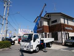 エルフトラック2T タダノクレーン3段フックイン ラジコン付 ロング