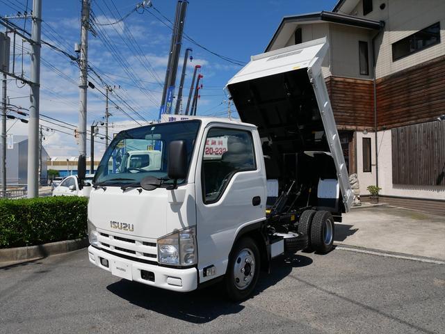 いすゞ エルフトラック 3t強化ダンプ 新明和製 6速ミッション/3ペダル
