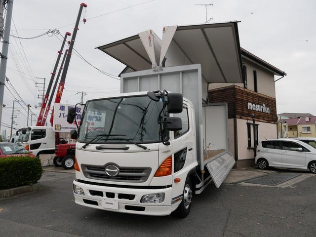 日野 レンジャー アルミウィング ベット付 6速MT エアサス ターボ