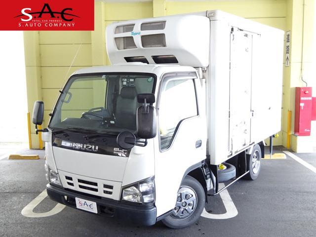 いすゞ エルフトラック  エルフトラック クラッチフリー 冷蔵冷凍車 最大積載量2000kg 左電動格納ミラー カラーバックモニター ETC -5℃ 庫内灯 ラッシングレール1段