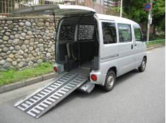 ミニキャブバンハイルーフ 車いす スローパー 4WD