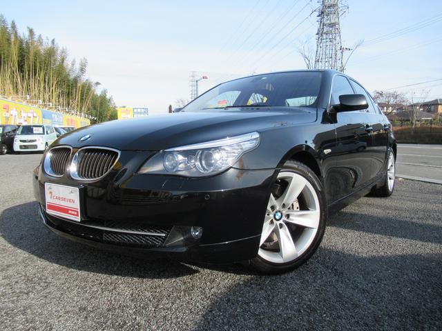 BMW 550i 黒革シート サンルーフ 地デジチューナー