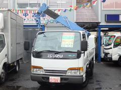 エルフトラック2t垂直式パワーゲート2.2t吊4段クレーン付 NOx適合D