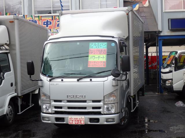 いすゞ エルフトラック 2t アルミバンパワーゲート付 Nox適...