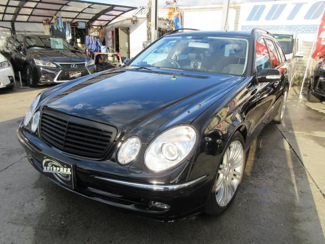 Eクラスステーションワゴン E280ワゴン アバンギャルドリミテッド 黒革シート サンルーフ ETC キセノンヘッドライト ユーザー買い取り車