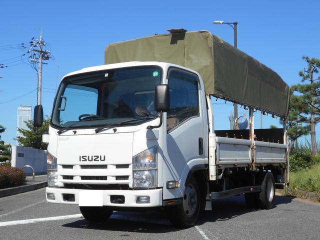 いすゞ エルフトラック ロング パワーゲート 幌 積載3t