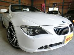 BMW645Ciカブリオレ 黒革社外HDDナビフルセグ20インチ