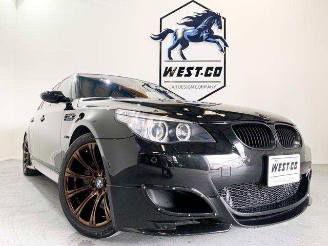 BMW M5左HWALDエアロ社外マフラー19AWSR本革Pスタート