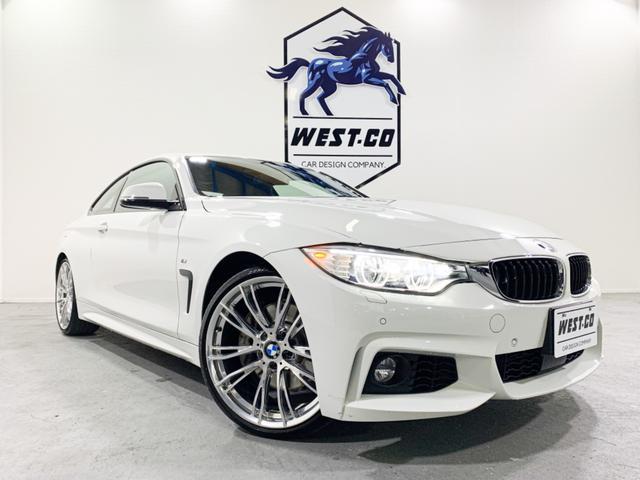 BMW 435iクーペ Mスポーツ 1オーナー車 左ハンドル ガラスサンルーフ ブラックレザー 純正OP20inchAW 純正ナビ Bモニター Bluetooth レーンディパーチャー レーンウォーニング Mパワーシート シートヒーター