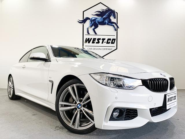 BMW 435iクーペ Mスポーツ 禁煙車 レッドレザー サンルーフ LEDヘッドライト 純正19AW ビッグキャリパー パドルシフト 衝突回避 レーンウォーニング 地デジTV Bカメラ Bluetooth シートヒータ― D記録簿