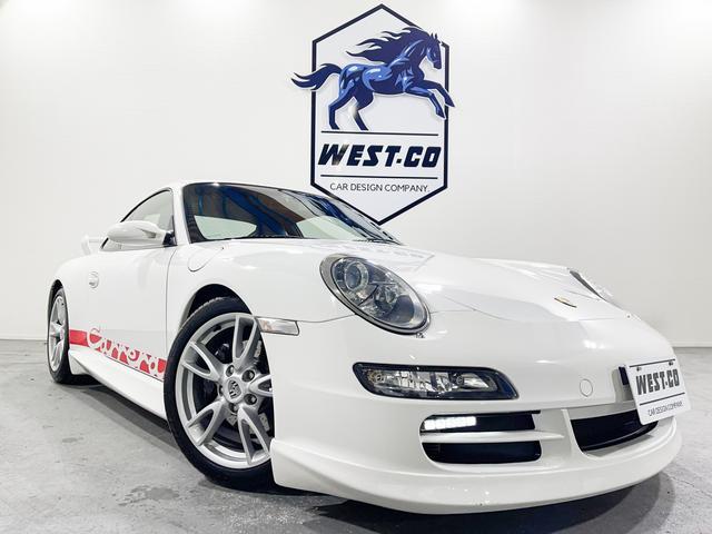 ポルシェ 911 911カレラ 左ハンドル325PSGT3ルックエアロダウンサス4本出しマフラーデコステッカー純正18inchAWロゴキャリパーパドルシフトHIDヘッドライト黒革パワーシート&ヒーター社外HDDナビBモニターETC