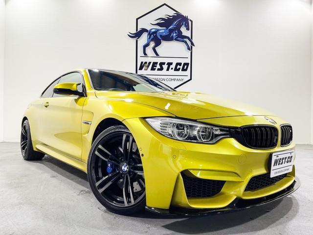 BMW M4クーペ 431PSカーボンルーフF・R社外スポイラーRディフューザー純正19インチAWMキャリパー純正マフラーMグリルM4専用シートカーボンパネル純正ナビBカメラ地デジTV衝突安全装置ETC