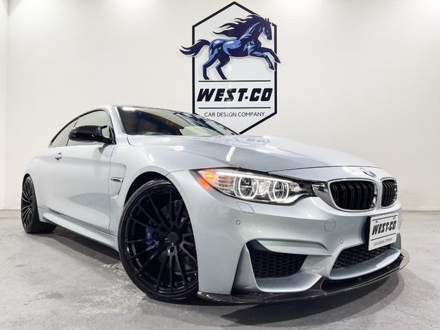 BMW M4クーペ 431PS黒革REMUS4本出OZracing20inchAW3Dデザインカーボン H&RスプリングカーボンミラーアダプティブMサスペンションM専用キャリパー純正ナビ地デジTVバックモニターAクルコン